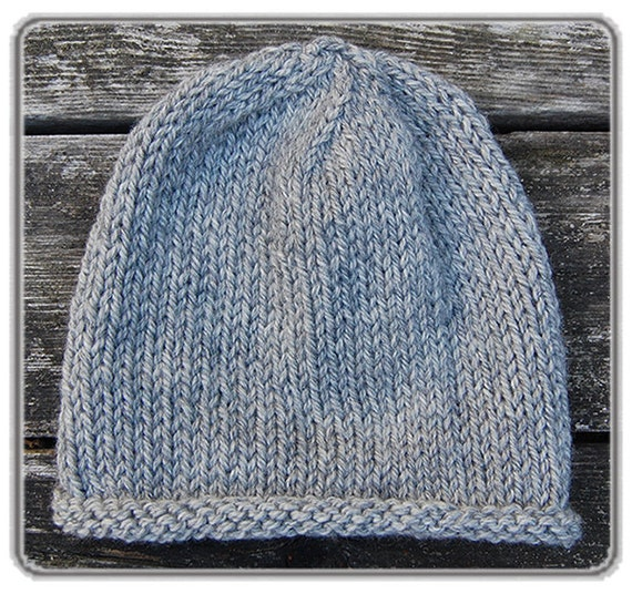 109e850d235 Organic Baby Hat in Gray Heather. Extra soft merino wool hand