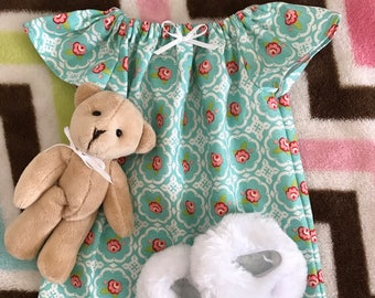 """American Girl 18"""" Doll Nightgown Set, Beauty Floral"""