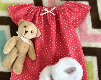 """American Girl 18"""" Doll Nightgown Set, Vintage Floral"""