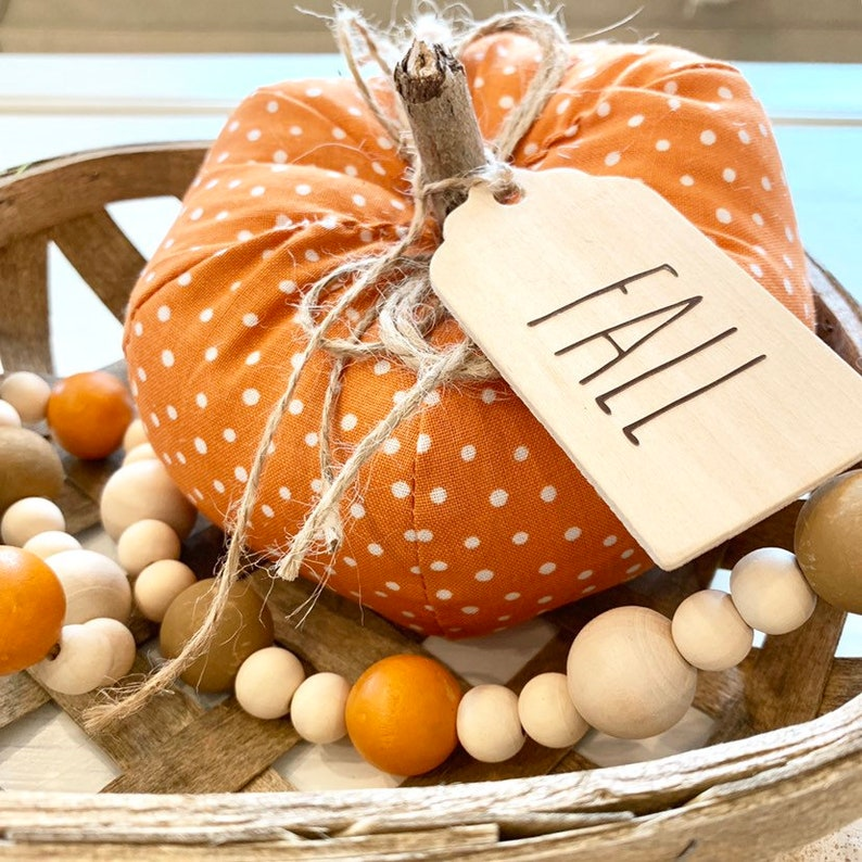 Polka Dot Fabric Pumpkin