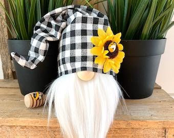 "6"" Mini Sunflower Check Gnome, Boy or Girl"