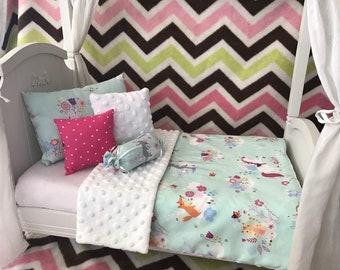 "American Girl 18"" Doll Bedding Set,  5 pc. Unicorn Friends"
