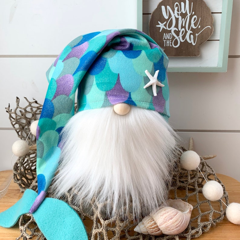 Mermaid Slouch Gnome Boy or Girl image 0
