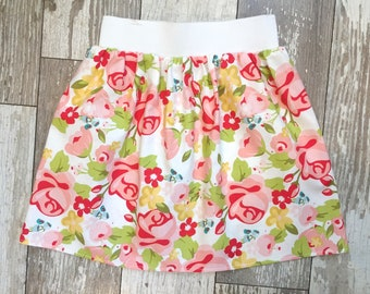 3 Sizes-Girls Trendy Floral Skirt-Beauty Floral