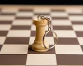 Chess piece keychain - Wh...