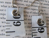 Earring recycled measure ...