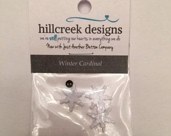 Winter Cardinal Button Pack from Hillcreek Designs B248-QDD