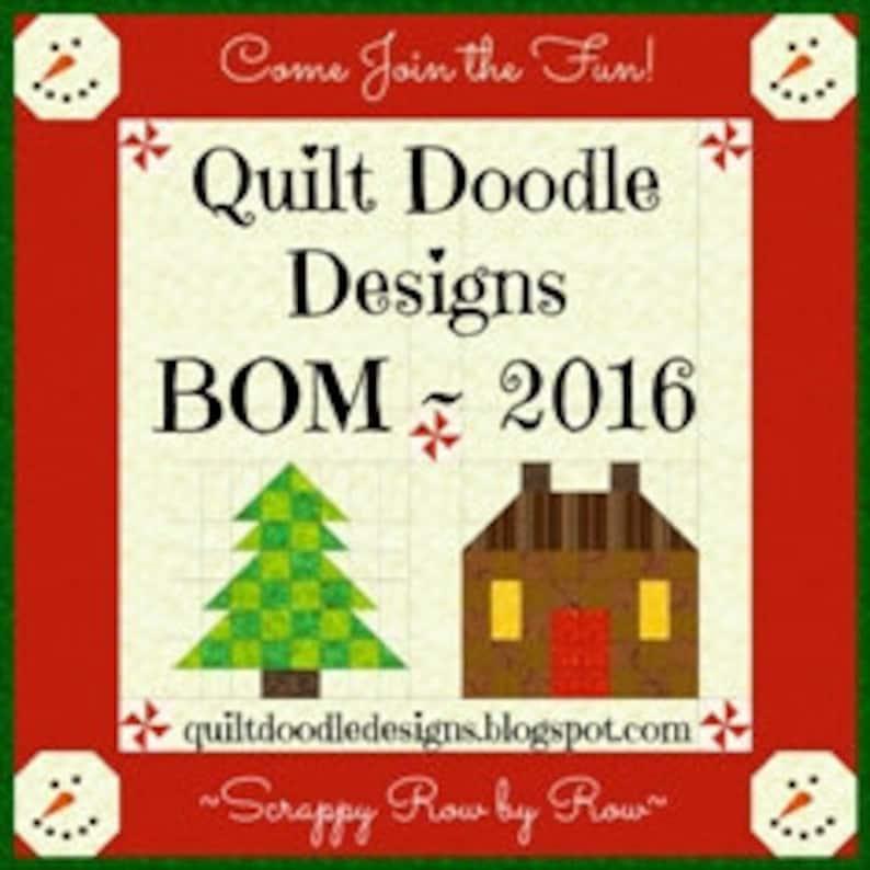 Tis The Season Quilt Doodle Designs June/'s Block 2016