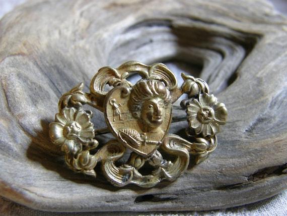 lavender enamel Victorian Rebekah IOOF 15 year pin dated 1892
