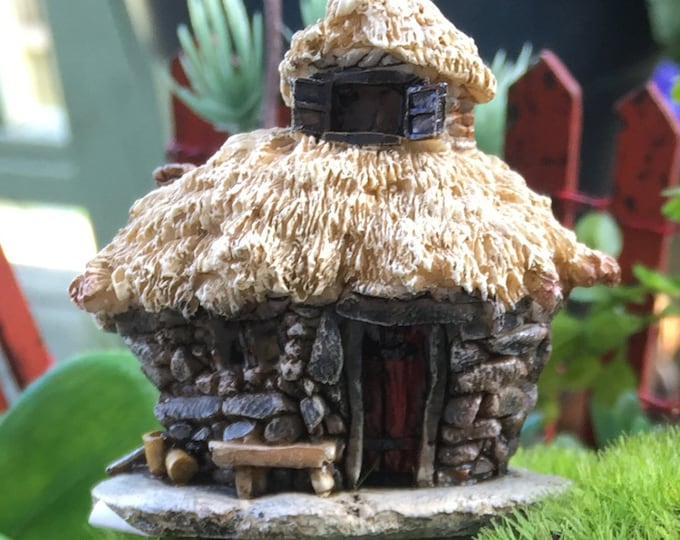 Micro Mini Troll Fairy Garden House,  2 Inches Tall,  Fairy Garden Accessory, Garden Decor, Topper, Terrarium Accessory