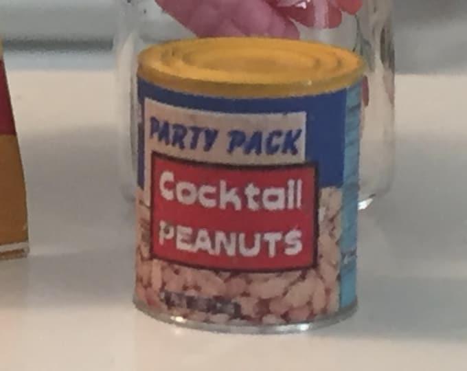Miniature Cocktail Peanuts Can, Mini Snack Food, Dollhouse Miniature, Miniature Food, Dollhouse Miniature, 1:12 Scale, Pretend Food