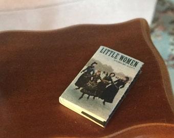 "Miniature Book, ""Little Women"", Printed Inside Pages, Dollhouse Miniature, 1:12 Scale, Mini Book, Readable Book, Dollhouse Book, Tiny Book"