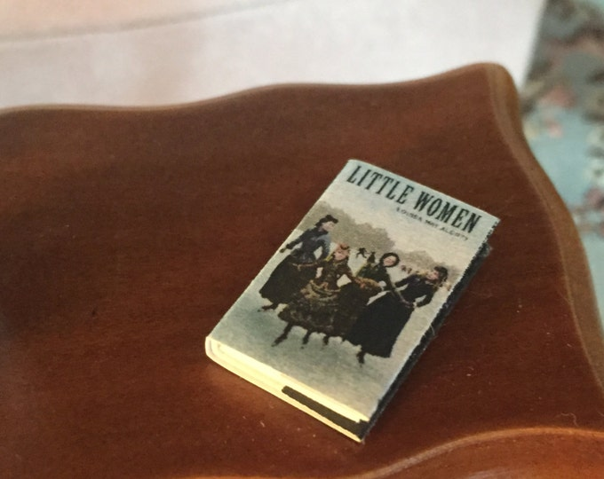 "Miniature Book, ""Little Women"", Printed Inside Pages, Dollhouse Miniature, 1:12 Scale, Mini Book, Readable Book, Dollhouse Book, Tiny Book"