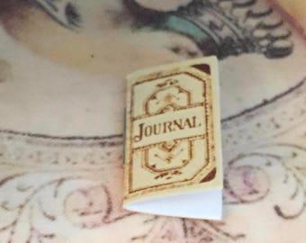 Miniature Journal Book, Dollhouse Miniature, 1:12 Scale, Dollhouse Accessory, Decor, Crafts, Embellishment