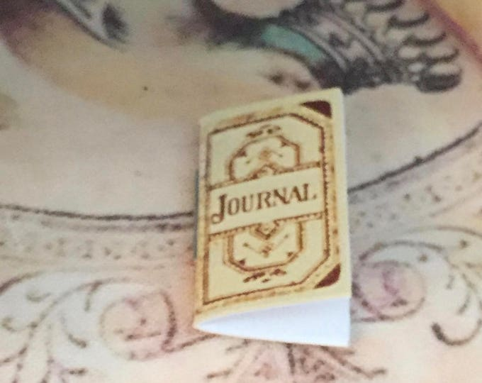 Miniature Journal Book, Dollhouse Miniature, 1:12 Scale, Dollhouse Accessory, Decor, Crafts, Embellishment