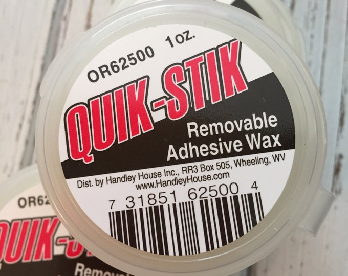 Quik Stik Removable Adhesive Wax, Wax For Dollhouse Miniatures, Adhesive for Miniatures, Holds Dollhouse Miniatures in Place for Display