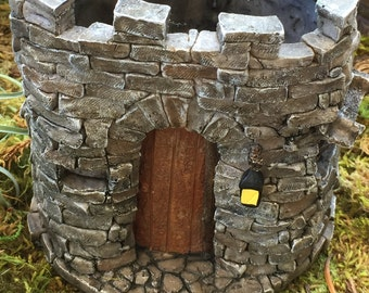Mini Castle, Fairy Castle, Miniature Gardening Castle, Planter, Fairy Garden Accessory, Home & Garden, Flower Pot, Miniature Gardening