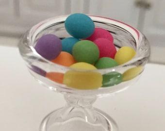 Miniature Easter Eggs, Dyed Mini Eggs, Dollhouse Miniature, 1:12 Scale, Dollhouse Food, Accessory, Mini Food, Holiday Decor