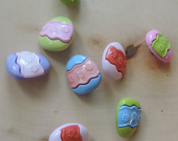 """Easter Egg Buttons, Packaged Novelty Button Assortment by Buttons Galore, """" Egg Hunt"""" #4258, Shank Back Buttons, Sewing, Embellishments"""