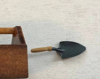 Miniature Garden Trowel, Mini Metal Trowel Shovel, Dollhouse Miniatures, 1:12 Scale, Garden Decor, Accessory, Crafts