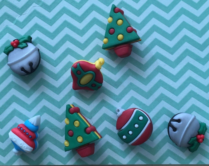 """Christmas Ornament Buttons, Packaged Novelty Button Assortment """"Jingle Bells"""" Style #4779 by Buttons Galore, Sewing, Crafting Embellishments"""