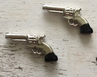 Miniature Western Pistols, Packaged Set of 2 by Timeless Minis, Mini Guns, Miniature Guns, Set of 2