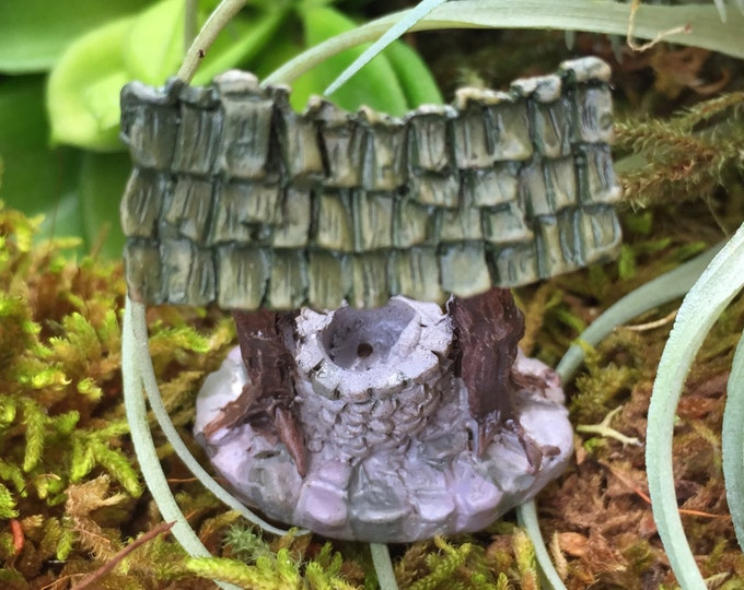 Micro Mini Wishing Well, Fairy Garden Accessory, Miniature Garden Decor, Home & Garden, Mini Well, Topper, Shelf Sitter