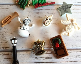 """Holiday Themed Buttons, Packaged Novelty Button Assortment Pack by Buttons Galore, """"Caroling"""" Style 4760, Buttons & Embellishments"""