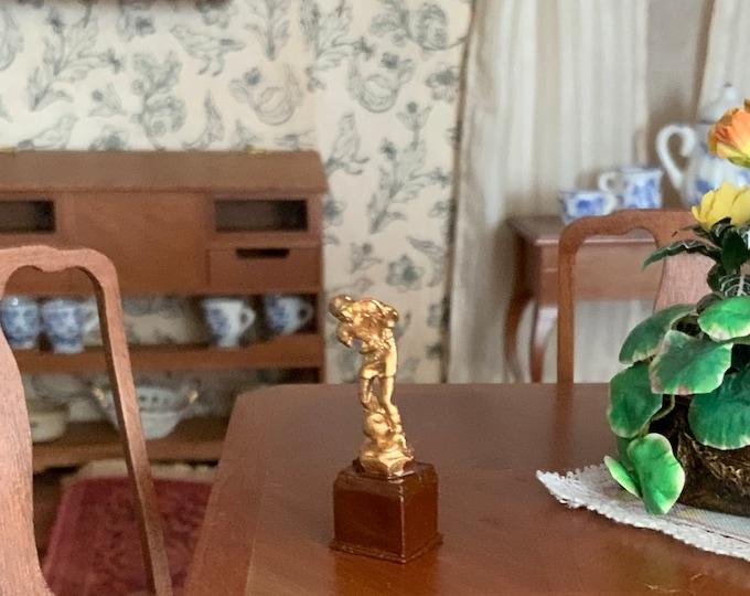 Miniature Trophy, Mini Soccer Trophy, Dollhouse Miniature 1:12 Scale, Style #414, Dollhouse Decor, Accessory, Mini Sports Trophy