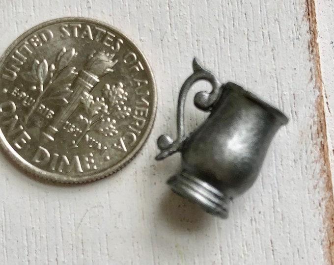 Miniature Pewter Mug, Dollhouse Miniature, 1:12 Scale, Dollhouse Decor, Accessory