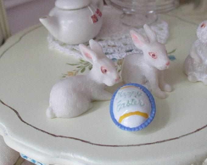 Miniature Easter Egg, Mini Hand Painted Egg, Dollhouse Miniature, 1:12 Scale, Easter Decor, Dollhouse Accessory, Holiday Decor