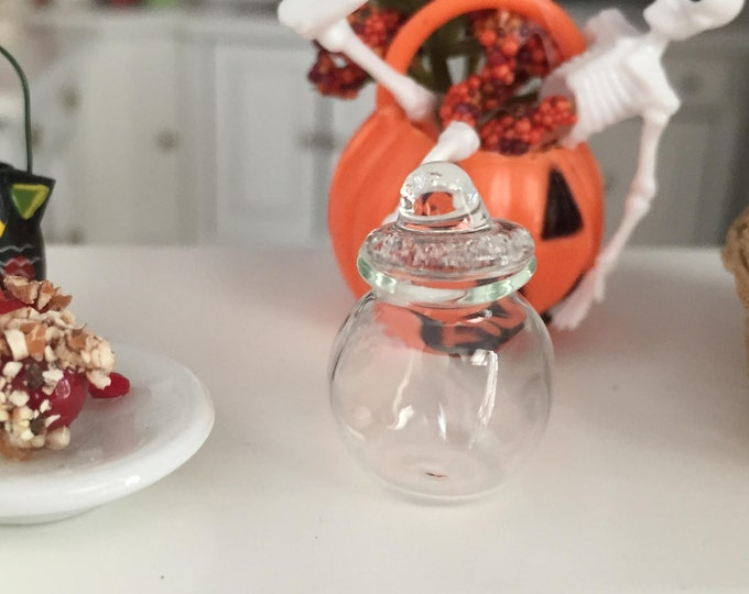 Miniature Glass Jar, Mini Jar, Style 88,  Dollhouse Miniature, 1:12 Scale, Dollhouse Accessory, Decor Item, Crafts, Topper