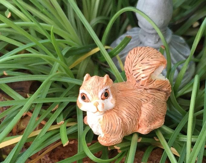 Miniature Squirrel Figurine, #49,  Dollhouse Miniature, 1:12 Scale, Mini Squirrel, Miniature Garden Decor, Dollhouse Accessory, Crafts