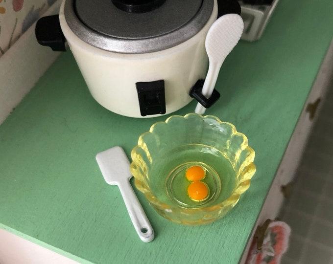 Miniature Eggs in Bowl, Egg Bowl, Dollhouse Miniature, 1:12 Scale, Dollhouse Food, Decor, Mini Egg Bowl