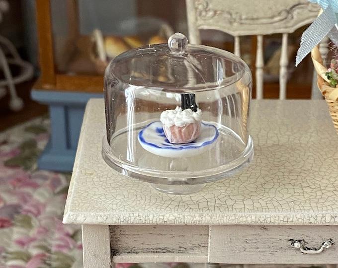 Miniature Cake Stand, Mini Covered Cake Dessert Dish,  Style #99, Dollhouse Miniatures, 1:12 Scale, Dollhouse Decor Accessory