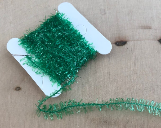Miniature Tinsel Garland, Green, 2 Yards, Dollhouse Miniature, 1:12 Scale, Dollhouse Accessory, Decor, Crafts