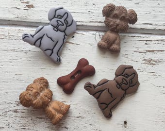 """Puppy Dogs and Bone Buttons, Packaged Novelty Buttons """"Puppy Love"""" #4431 by Buttons Galore, Sewing, Crafting, Embellishments"""