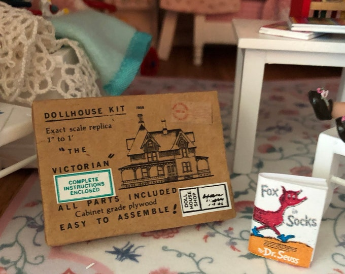 Miniature Dollhouse Kit Box, Mini Toy Dollhouse Kit Box, Dollhouse Miniature, 1:12 Scale, Dollhouse Accessory, Decor, Crafts