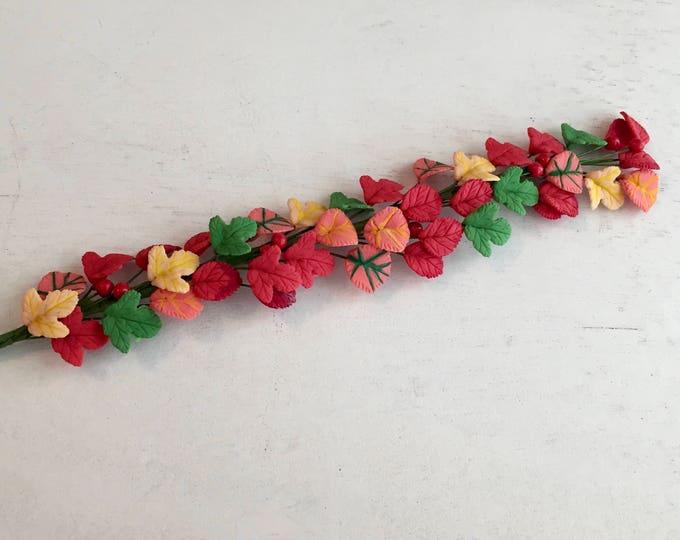 Featured listing image: Miniature Autumn Leaves Vine, Autumn Garland, Dollhouse Miniature, 1:12 Scale, Dollhouse Accessory, Decor, Fall Decor, Floral, Crafts