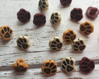 """Paw Print Buttons, Packaged Novelty Buttons """"Little Paws"""" #4120 by Buttons Galore, Assortment Pack, Shank Back Buttons, Embellishments"""