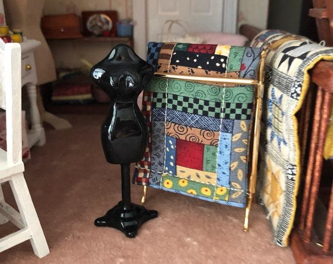 Miniature Mannequin, Mini Dressmaker Metal Mannequin, Dollhouse Miniature, 1:12 Scale, Dollhouse Sewing Decor, Accessory