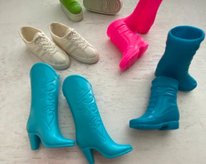 Fashion Doll Barbie Ken, Shoes, Sneakers, Slips Ons, Boots, Etc, 5 pair Set #7,  Doll Shoe Set, Fashion Doll Accessories