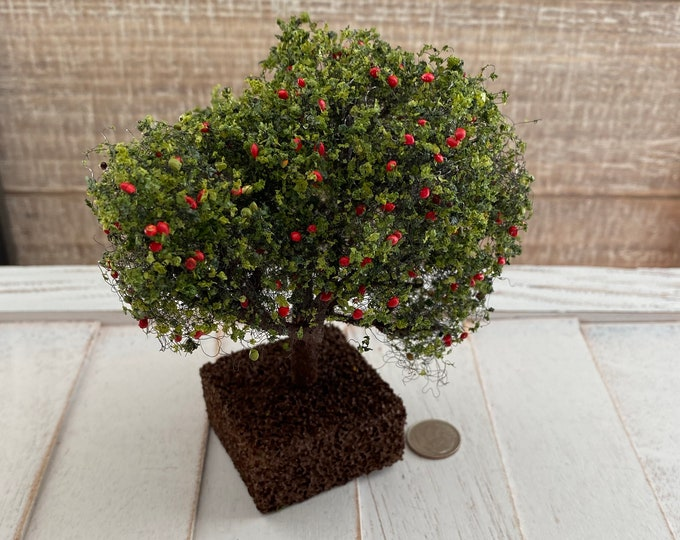 Miniature Ornamental Tree, Dollhouse Yard, Garden Decor, Dollhouse Scale 1:12, Dollhouse Accessory, Crafts, Decor