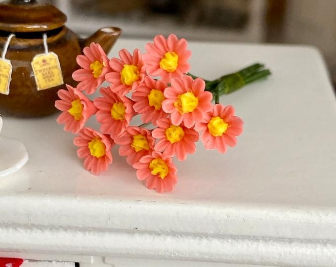 Miniature Perennial Bunch, Pink Perennials, 1 Dozen Stems, Style #71PK,  Dollhouse Miniature, 1:12 Scale, Dollhouse Flowers, Flower Bunch