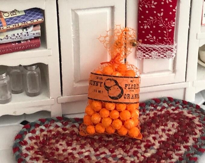 Miniature Oranges, Bag of Mini Oranges, Dollhouse Miniature, 1:12 Scale, Mini Food, Dollhouse Food, Crafts, Embellishment, Topper