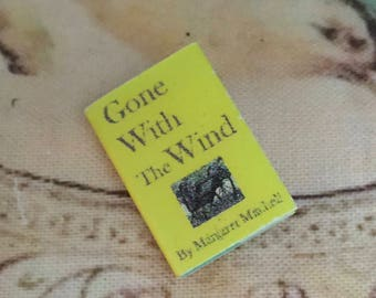 Miniature Book, Classic Mini Book, Printed Inside Pages, Dollhouse Miniature, 1:12 Scale, Mini Book, Book With Text