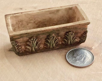 Miniature Window Box, Aged Clay Look Planter #06, Flower Pot, Dollhouse Miniature, 1:12 Scale, Home and Garden Decor