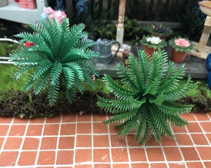 Mini Palm Tree Picks, Set of 2, Fairy Miniature Garden Decor, Mini Tree Picks