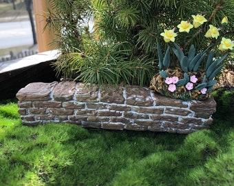 Mini Stone Wall, Fairy Wall, Fairy Garden Accessory, Miniature Garden Decor, Stone Wall Pick, Crafts, Embellishment