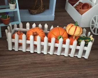 Miniature Picket Fence Window Bow, Dollhouse Miniature, 1:12 Scale, Dollhouse Accessory, Decor, Mini Garden, Floral, Crafts